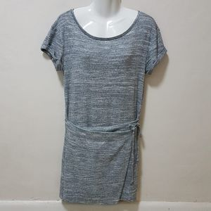 Anthropologie Maeve Dress S Gray Heather Wrap Cuff